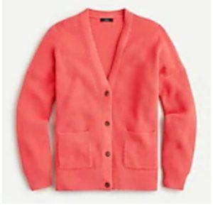 J. Crew NWT XL V-neck cotton-cashmere cardigan sweaters